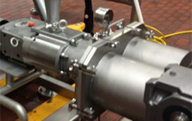 Utilising Twin Screw pumps a large processor accomplishes smooth and even flow for meat extrusion process