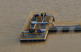 Water Storage Dam Pontoon Pump